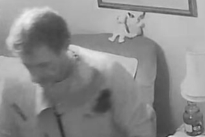 Burglar filmed stealing from 'terrified' dementia sufferer as she lay in bed