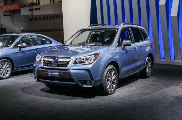 Slide 1 of 8: 2018-Subaru-Forester-50th-Anniversary-Edition-front-three-quarter.jpg