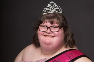 A 380-lb girl with a genetic disorder that causes constant hunger crowned a pageant queen