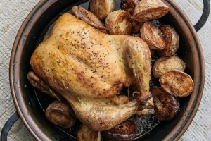 The trick to making a perfect roast chicken might be in your bathroom