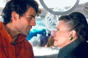Watch Carrie Fisher slap Oscar Isaac (over and over) in Star Wars: The Last Jedi