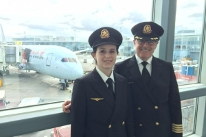 Father-daughter pilot duo fly Air Canada plane: 'I never thought it was going to be possible'
