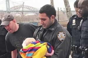 NYPD officer steps in to help deliver baby on April Fool's Day