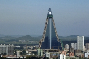 North Korea's Evil-Looking Hotel Has A Brighter Feature