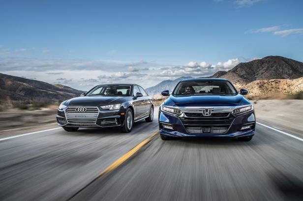 Reviews: 2018 Audi A4 Ultra Premium vs  2018 Honda Accord 2 0T