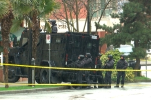 16-hour police standoff near Vancouver's Beach Avenue ends in arrests