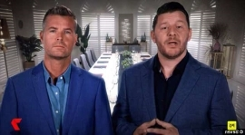 a man standing in front of a building: 'You're excused from the table': The unprecedented moment My Kitchen Rules judge Manu Feildel kicks off one team from the show after their behavior is deemed 'completely unacceptable'