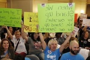 Oklahoma Senate takes up tax hike to halt teachers' strike