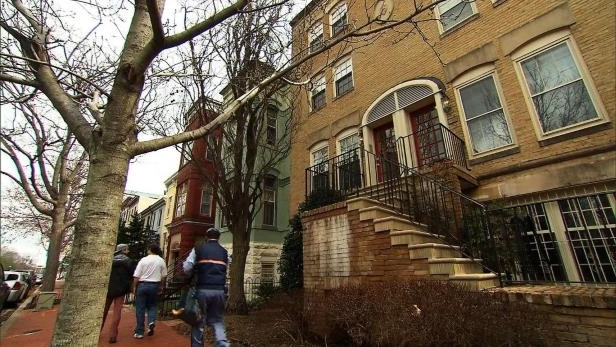 The Capitol Hill rowhouse (left) in which EPA Administrator Scott Pruitt rented a room from a lobbyist couple for $50 per night.