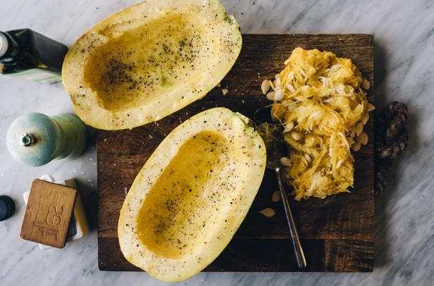 What you should know about toxic squash syndrome: Stocksy-spaghetti-squash-Cameron-Whitman