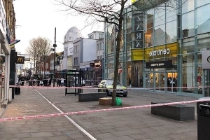 London's violent crimewave continues as two more young men are knifed at busy shopping centre