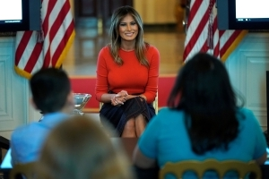 No big deal: Melania Trump comforts student at event