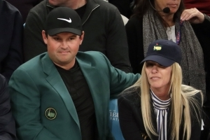 Patrick Reed wore his Masters green jacket to a Knicks game