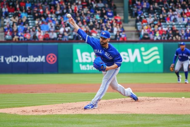 Slide 18 of 77: ARLINGTON, TX - APRIL 08: Toronto Blue Jays pitcher Jaime Garcia (57) throws to the plate during the game between the Toronto Blue Jays and Texas Rangers on April 8, 2018 at Globe Life Park in Arlington, Texas. (Photo by George Walker/Icon Sportswire via Getty Images)