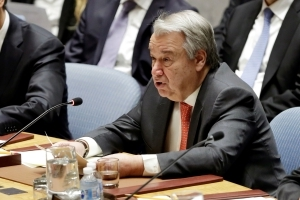 UN chief urges restraint after strikes on Syria