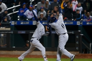 Brewers rough up Harvey, end Mets' win streak at 9