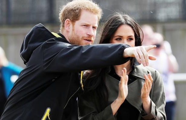 Britain's Prince Harry, and Meghan Markle at the Invictus Games Sydney 2018 in Bath, Britain, April 6, 2018.