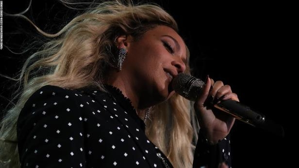 Recording artist Beyonce performs during a Get Out The Vote concert Democratic presidential nominee former Secretary of State Hillary Clinton at Wolstein Center on November 4, 2016 in Cleveland, Ohio.
