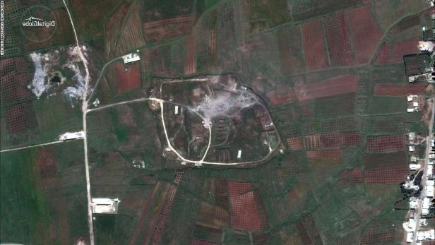 Satellite images show craters at alleged Syrian chemical weapons facilities