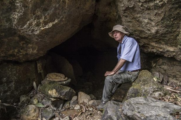 Brian Kharpian at Krem Puri: Brian D Kharpran has been exploring caves in Meghalaya for 26 years