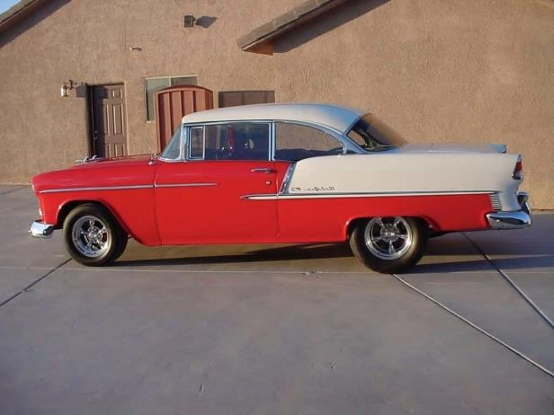 Slide 2 of 17: 1955-chevy-bel-air-hardtop-right-profile.jpg