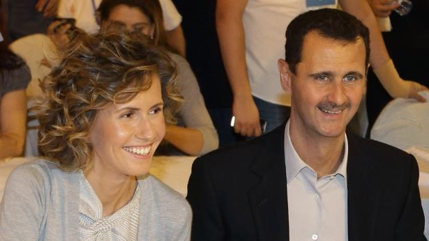 Syrian President Bashar al-Assad and wife Asma in Damascus, 5 Sep 10: President Assad and his wife Asma in Damascus pictured together in 2010
