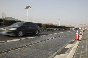 China's solar road will charge cars as they drive