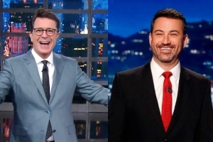 Jimmy Kimmel & Stephen Colbert Mock Sean Hannity After He's Outed As Michael Cohen's Secret Client
