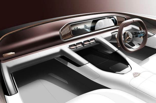 Slide 1 of 2: Vision Mercedes Maybach Ultimate Luxury interior sketch