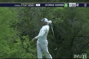 Watch Sergio heave driver into woods on rough day in Texas