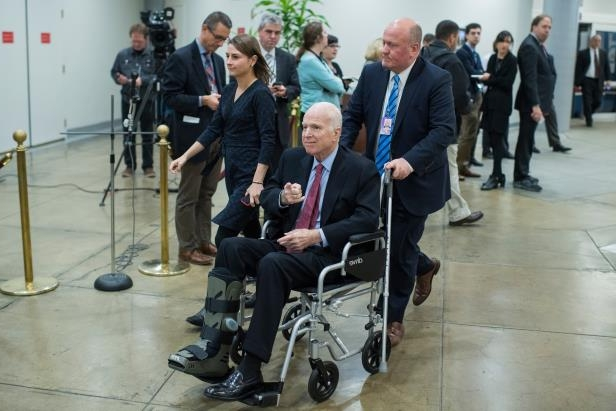 Sen. John McCain, R-Ariz., has been discharged from the hospital and is recovering from surgery at home in Arizona. (Tom Williams/CQ Roll Call)