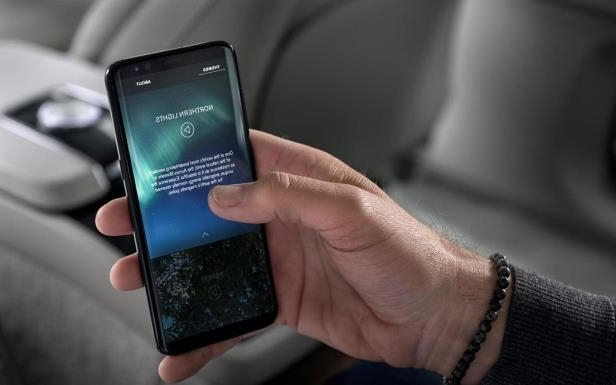 Slide 6 of 9: Volvo S90 Ambience Concept mobile app