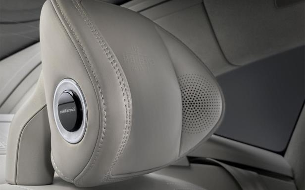 Slide 7 of 9: Volvo S90 Ambience Concept headrest speakers