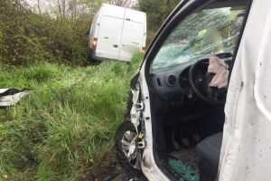 One injured after shocking crash between two vans near Ballyboughal