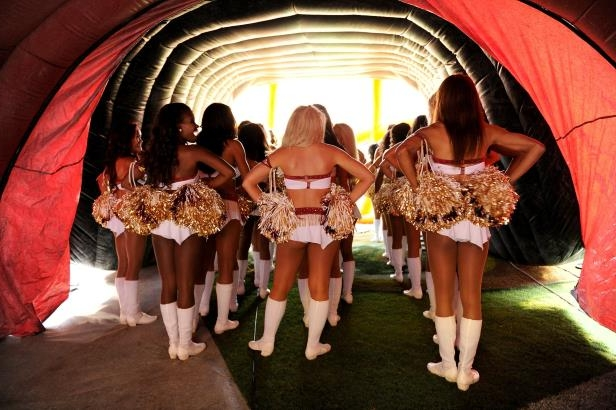 20f524ac Sport: How Redskins Used Cheerleaders: Topless Photo Shoots and an ...