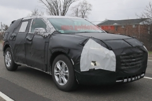 Chevy Blazer split headlights revealed in spy shots