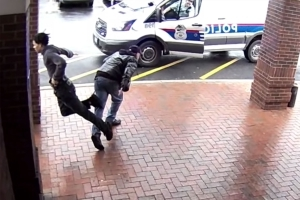 Bystander Saves the Day After Tripping Armed Man Who Was Running Away from the Police
