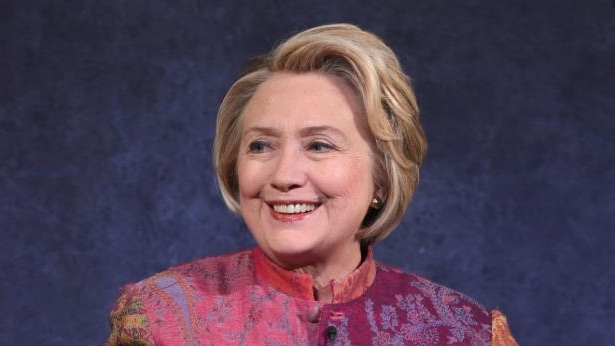 Hillary Clinton smiling for the camera