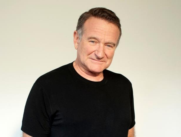 Robin Williams in a black shirt: Actor Robin Williams poses for a portrait on Nov. 5, 2011 in Beverly Hills, Calif.