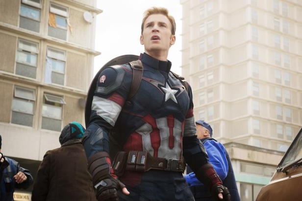 Slide 5 of 21: Chris Evans as Captain America in Avengers: Age of Ultron