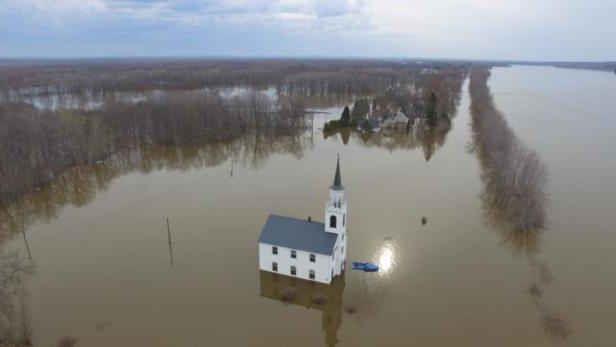 Every year, the United Church in Sheffield sees high water, but the congregation hasn't seen levels this high before.