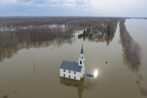 Historic church struck by lightning, endures flooding year after year
