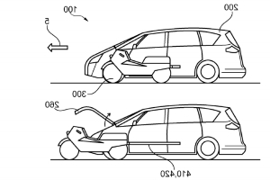 Ford Filed A Patent For A Motorcycle That Comes Out Of A Car