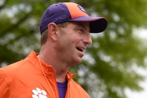 Dabo Swinney downplays talk of succeeding Nick Saban at Alabama