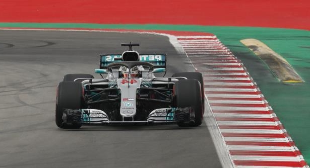 Mercedes driver Lewis Hamilton of Britain steers his car during the qualifying session for the Spanish Formula One Grand Prix at the Barcelona Catalunya racetrack in Montmelo, Spain, Saturday, May 12, 2018. The Spanish Formula One Grand Prix will take place on Sunday. (AP Photo/Manu Fernandez)