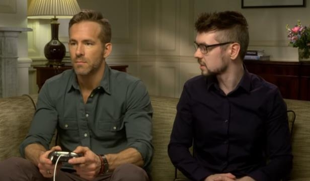 Ryan Reynolds looking at the camera: YouTube/JackSepticEye