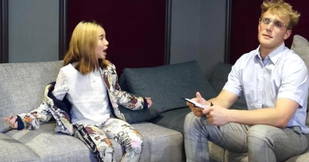 Jake Paul interviews Lil Tay on YouTube.