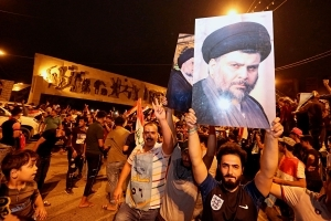 Shiite cleric al-Sadr leads in Iraq's initial vote results