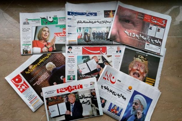 Iranian newspapers: President Trump's decision to abandon the nuclear accord made headlines in Iran