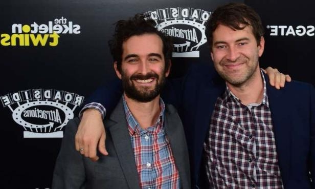 Mark Duplass, Jay Duplass posing for the camera: Mark and Jay Duplass (L/R) pose on arrival for the Los Angeles Premiere of the film 'The Skeleton Twins' in Hollywood, California on September 10, 2014